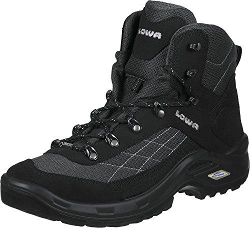 Lowa Taurus GTX Mid, Chaussures de Randonnée Hautes Homme, Noir (Schwarz 999), 46.5 EU