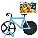 Tagliapizza Bicicletta, ZoneYan Bicicletta Ruota Tagliapizza, Rotelle Tagliapizza, Tagliapizza da Taglio in Acciaio Inox Lame con Rivestimento Antiaderent con Cavalletto, Doppia Rotella Tagliapizza