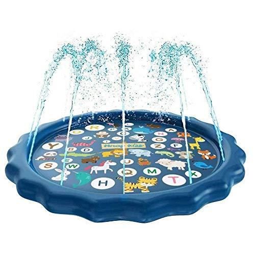 Splash Pad Sprinkler Voor Kinderen Peuterbad Om Te Leren, 68 Inch Outdoor Party Splash Pad Voor Kinderen Waterspeelgoed Plezier Voor Peuters Jongens Meisjes Kinderen