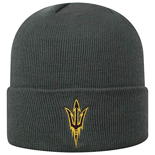 Top of the World Arizona State Sun Devils Men's Cuffed Knit Hat Charcoal Icon, One Fit