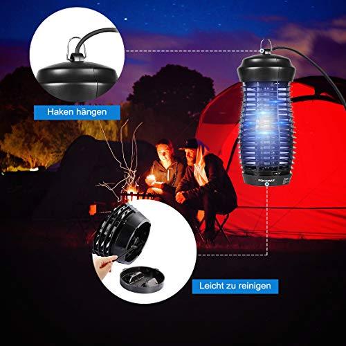 DEKINMAX Lampe Anti Moustique Électrique Tueur de Moustique Tueur D'insectes Mouches Piège (6W)