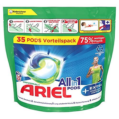 Ariel Waschmittel Pods All-in-1, 70 Waschladungen (2 x 35) Universal + EXTRA Geruchsabwehr