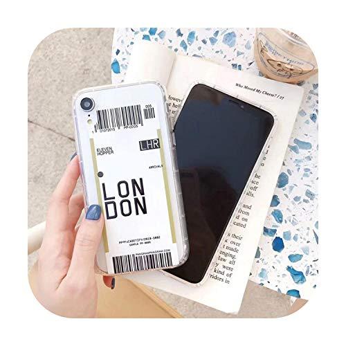 Lindo ins Divertido código de barras etiqueta teléfono caso Para iphone Xs MAX XR X 7 8 plus 11 11Pro MAX Clear suave TPU Back Cover Fundas