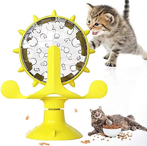 YISKY Juguete Giratorio para Mascotas, Juguetes Gatos con Ventosa, Juguete Interactivo Giratorias para Gatos, Molino de Viento Juguete Interactivo, para Juguetes para Gatos en Interiores (Amar