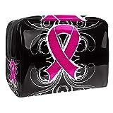 Estuche de Maquillaje Estuche de Aseo Estuche de cosméticos Organizador portátil de Alta Capacidad Conciencia del cáncer de Colon para Mujer niña