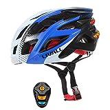 GWJNB Smart Bike Helmet, Señales De Giro Inalámbricas Luces Traseras, Altavoces Bluetooth, Micrófono Incorporado, Música Y Llamadas, Walkie-Talkie, SOS Alert Helmet
