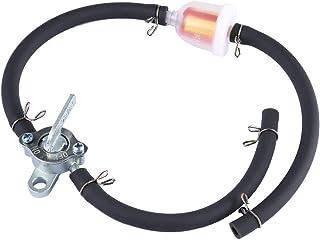 nettoyant de filtre /à essence universel de filtre /à essence de moto en aluminium de 8 mm argent Filtre /à huile de moto de remplacement EVGATSAUTO