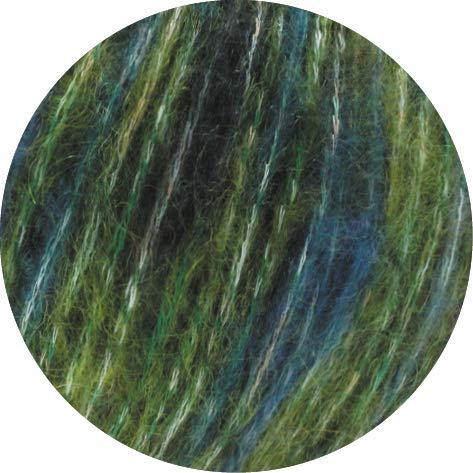 Lana Grossa Brigitte No. 2 Tweed 107 - Oliv/Violett/Petrol