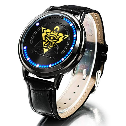 YJacuing Anime Yu-Gi-Oh! Millennium Puzzle Collector's Edition Touch LED Watch