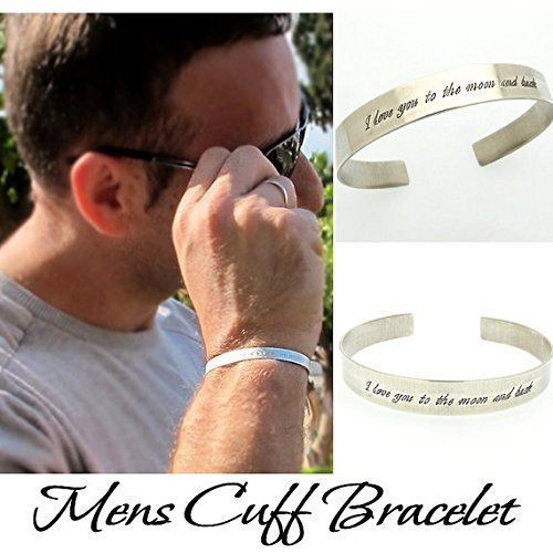 Personalized Custom Made Bracelet Sterling Silver Cuff