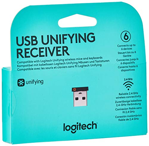 Logitech USB Unifying Receiver, Nero
