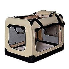 dibea Dog Transport Box Dog Bag Dog Box opvouwbare kleine dierlijke tas grootte M kleur beige *