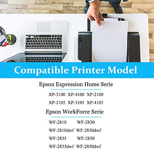 InkSpace 5 Reemplazo Compatible con 603 XL para Epson 603XL Cartuchos de Tinta con Expression Home XP-2100 XP-2105 XP-3100 XP-3105 XP-4100 XP-4105, Workforce WF-2810 WF-2830 WF-2835 WF-2850