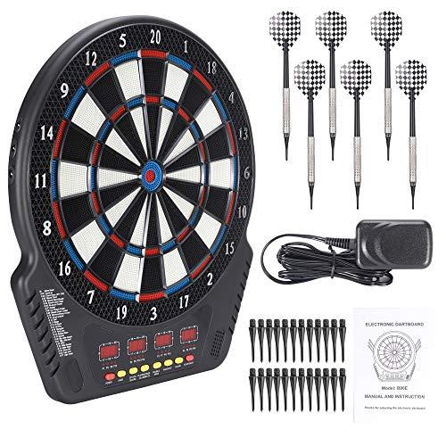 KKTECT Elektronische Dartscheibe Soft Dart mit automatischer Wertung 27 Spielmodi und 243 Varianten Für Familie/Büro/Freund Unterhaltung und Dekompression