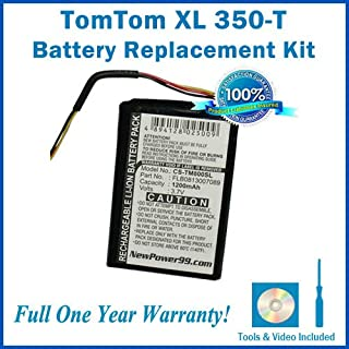 NewPower99 Battery Replacement Kit with Battery, Video Instructions and Tools for Tomtom XL 350T