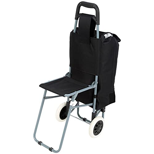 77f8950024a2 Rolling Shopping Cart/with Seat: Amazon.com