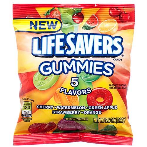 New 376704 Lifesavers Gummies 5 Flavor 3.6 Oz Peg Bag (12-Pack) Candy Bag Cheap Wholesale Discount Bulk Candy Candy Bag Fashion Accessories