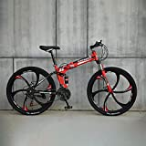 Novokart-Sport Pieghevole/Mountain Bike 26 Pollici 6 taglierina, Rosso