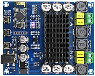 Lheng Digital Bluetooth Power Amplifier Amp Ampli Board, Dual Channel 120W+120W TPA3116D2 CSR 4.0 Audio Stereo Amplifier, Audio Receiver for Home Theater Speaker DIY DC 12-24V Powered