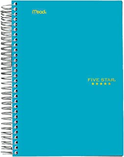 Five Star Spiral Notebook, 1 Subject, College Ruled Paper, 100 Sheets, 7