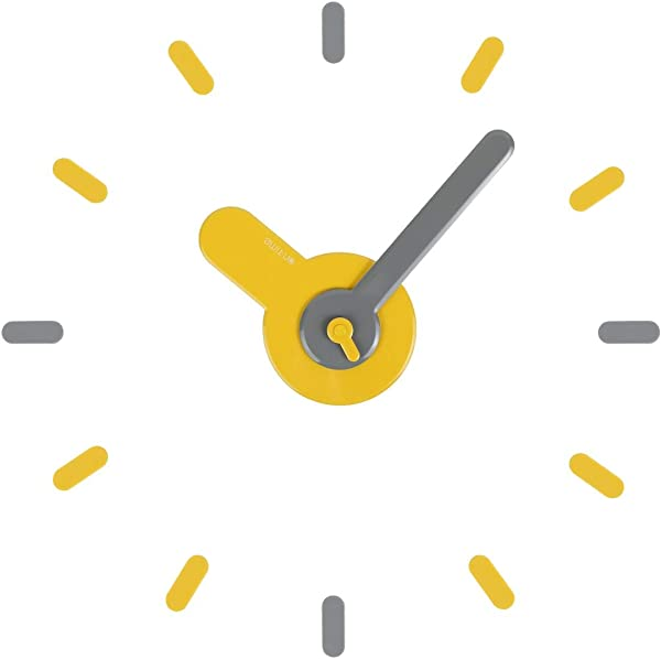 Lily S Home Large DIY Wall Clock Kit Modern 3D Wall Clock For Home Or Office 22 Inch Diameter Yellow Gray