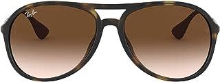 Ray-Ban Men's Alex Oval Sunglasses,Rubber Havana,59 mm