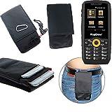 K-S-Trade® Gürtel Tasche Holster Kompatibel Mit Ruggear RG150 Brusttasche Brustbeutel Schutz Hülle Smartphone Hülle Handy Schwarz Travel Bag Travel-Hülle Vertikal