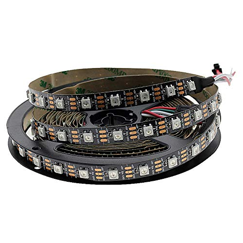 Hntoolight sk6812 ws2812b rgb 60 led streifen adressierbare led streifen individuell smart led streifen schwarz pcb keine wasserdichte dc5v 5m ip30