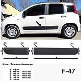 Spangenberg Baguettes de Protection latérales pour Fiat Panda III Type 312/319 3 Noir Generation à partir de 02.2012- F47 (370004701)