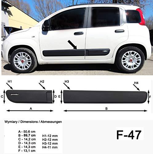 Spangenberg Barres de protection latérales noires pour Fiat Panda III type 312/319 3ème génération à partir de 02/2012 - F47 (3700047).