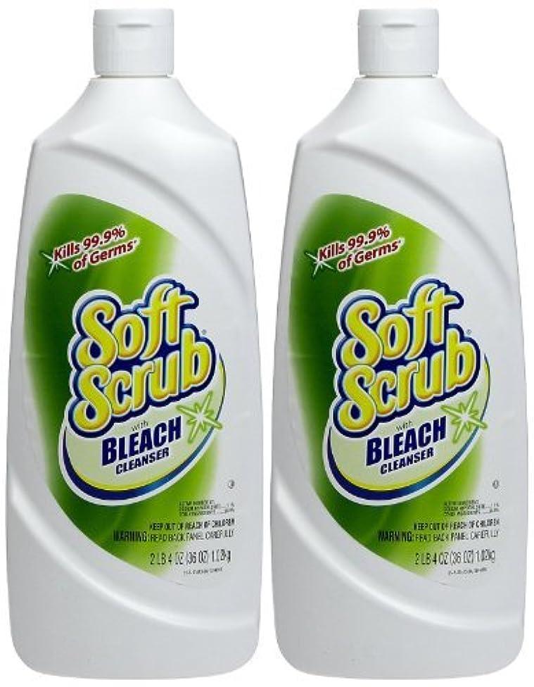 Soft Scrub Cleanser with Bleach,36 oz - 2 Pack