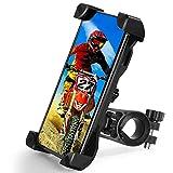 T WILKER Soporte Movil Bicicleta, Universal 360° Rotación y Anti-vibración Porta Telefono Bici para teléfono para Todos los teléfonos Inteligentes y Otros Dispositivos de 3.5 a 7 Pulgadas (Negro)