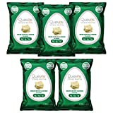 Quevos Keto Sour Cream & Onion - Low Carb Egg White Chips - Crunchy, High Protein, Keto Snacks - Gluten Free Snack, Grain Free, High Fiber - Perfect for Any Diet - 1 oz Bags (Pack of 5)