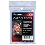 Ultra Pro 100 Pcs Soft Card Sleeves 2 5/8 x 3 5/8 Inches