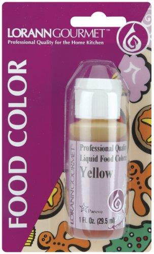 Lorann Oils Liquid Food Color 1oz-Yellow