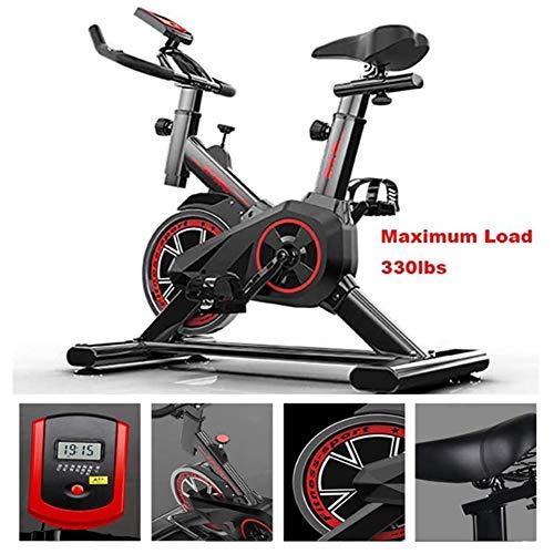 Bicicleta De Ejercicio,Fitness Interior Ciclismo Bicicleta Estacionaria,Ajustable Profesional Ejercicio Entrenamiento Deporte Bicicleta De 330 Lb De Capacidad De Monitor LCD ,Negro,43.3*33.46*17.72in