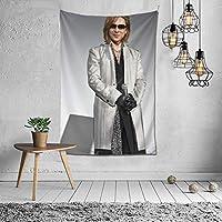 X Japan Yoshiki タペストリー インテリア 壁掛け おしゃれ 室内装飾 多機能 寝室 カーテン おしゃれ 個性ギフト 新築祝い 結婚祝い プレゼント ウォール アート(60in*40in)