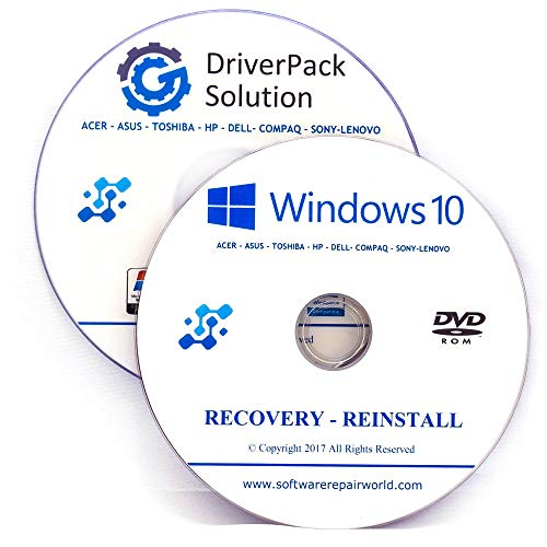 Windows 10 All Version & Drivers Pack Reinstall Recovery Repair Disc