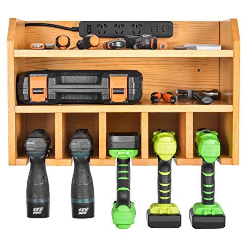 Elektrowerkzeug-Organizer, Sunix Elektrowerkzeug-Ladestation Bohrwandhalter Wandhalterungswerkzeuge Garagenlagerung (Steckdosenleiste ist nicht im Lieferumfang enthalten)