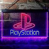 Playstation Game Room Kid LED看板 ネオンサイン バーライト 電飾 ビールバー 広告用標識 ブルー+レッド W40cm x H30cm