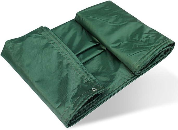 ZXQZ Bache Baches, Baches extérieures légères Ripstop renforcé imperméable polyvalent avec boutonnière 5m X 7m - Vert Baches (taille   4m8m)
