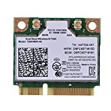 Mugast WiFi Karte,High Speed 300 Mbps 2,4G+5G Dual Band Mini PCI-E Wireless Bluetooth WLAN Karte Adapter,802.11a / b/g/n WLAN Karte Netzwerkkarte für Intel 7260HMW Win7/Win8/Win10/Linux