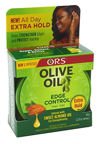 Ors Gel Olive Oil Edge Control Hair 2.25oz (2 Pack) by Organic Root (ORS)