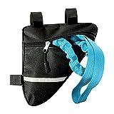TT- Fahrrad Abschleppseil für Kinder +Fahrradtasche Rahmen Dreiecktasche Set, Fahrrad Abschleppseil Stretch Bungee Cord Bungee-Seil +Fahrradaufbewahrung für Fahrradzubehör Werkzeug (Blau)