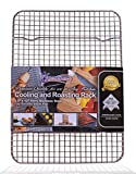 Kitchenatics Stainless Steel Cooling and Roasting Rack, Oven-Safe for Cooking, Smoking, Grilling, BBQ - Heavy Duty Rust-Resistant Small Quarter Sheet Size Rack ( 21.6 cm x 30.5 cm )