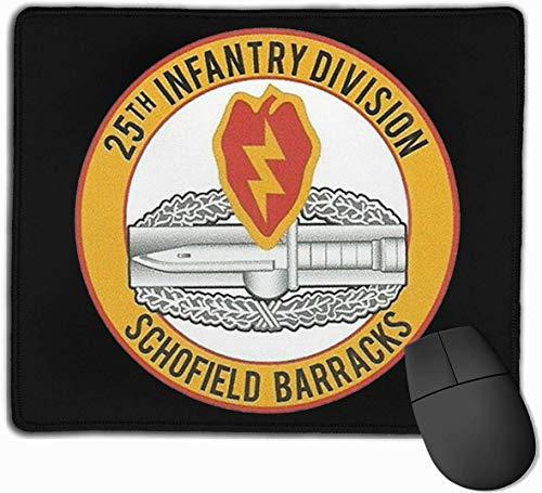25. Infanteriedivision CIB Combat Action Badge Mousepad rutschfeste Gaming-Mausunterlage Mousepad
