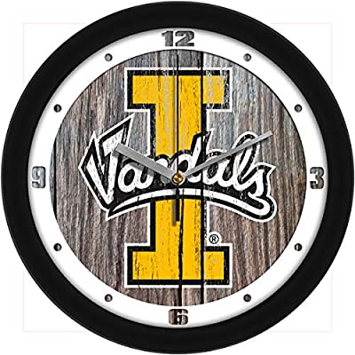 SunTime Idaho Vandals - Weathered Wood Wall Clock
