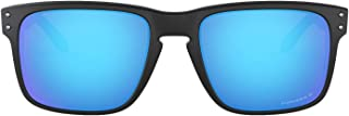 Oakley Men's Holbrook Polarized Rectangular Sunglasses,Polished Black Frame/Grey Lens,one size
