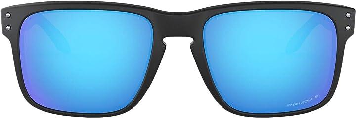 Occhiali oakley holbrook, occhiali uomo, specchio nero/rosso opaco, taglia unica 0OO9102