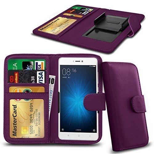N4U ONLINE® Clip Serie Kunstleder Brieftasche Hülle für ZTE Open L - Lila